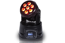 7pcs*10W 4in1 Mini Moving Head  Light